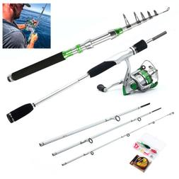 telescopic fishing rod reel spinning casting lure