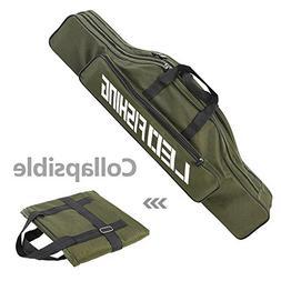 Lixada 80cm Portable Double-layer Fishing Rod Bag Fishing Re