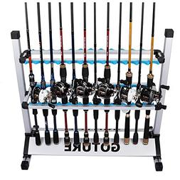 Goture Portable Fishing Rod Rack Metal Aluminum Alloy and Ul