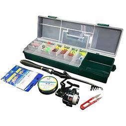 Oak-Pine 56 Pcs Portable Fishing Rod and Reel Combos Kit Car