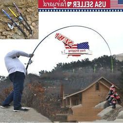 Portable Fishing Rod Ultralight Carbon Fiber Pole Telescopic