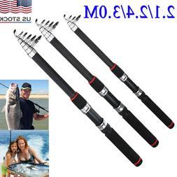 Portable Fishing Rod Ultralight Carbon Fiber Telescopic Sea