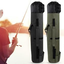 Portable Folding Fishing Rod Pole Carrier Tool Lures Box Tac