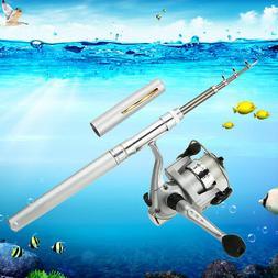 Portable Mini Aluminum Pocket Pen Shape Fishing Fish Rod Pol