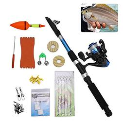 Vbestlife Portable Telescopic Fishing Rod Reel Combo - Fishi