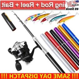 Portable Telescopic Mini Pen Rod Pocket Fish Aluminum Alloy
