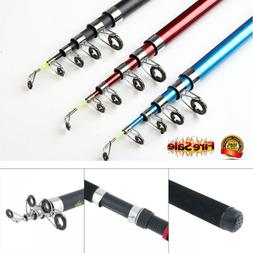Portable Telescopic Spinning Fishing Rod Reel Combos Full Ki