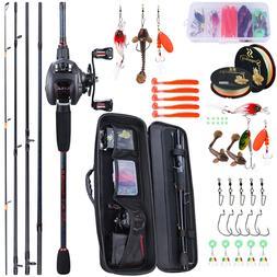 Sougayilang Portable Travel Fishing Combo2.4m Casting Fishin