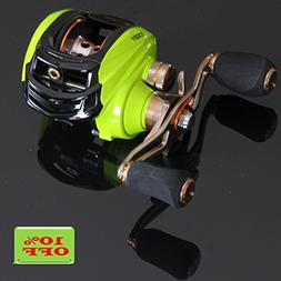 Noeby Low Profile Baitcasting Fishing Reel with 10+1 Ball Be