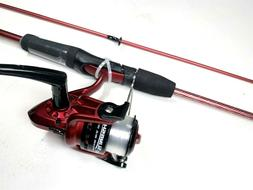 "Zebco Purple Slingshot 2-Piece 5'6"" Spincast Rod & Reel Comb"