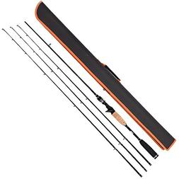 Entsport Rattlesnake 2-Piece 7-Feet Casting Rod with 3 Top P