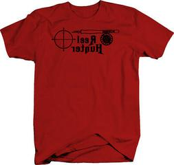Reel Hunter Hunting Fishing Rod Rifle Scope  Color T-Shirt