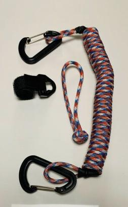The Keeper Rod Accessories leash Color Flag  fishing paddle