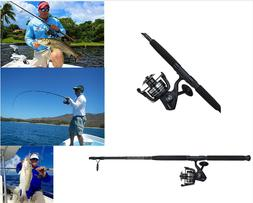 Penn Rod And Reel Combo Saltwater 8' Fishing Equipment Pole