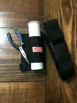 "Berkley rod holder with pliers and nylon belt  ""Great third"