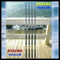 Okiaya Rod New 30-50lb Solid Saltwater Roller Fishing Rod PE