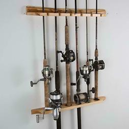 Rush Creek Creations 2-Piece 6 Fishing Rod Storage Wall Moun