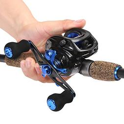 Sougayilang Sapphire Fishing Rod with Reel Combos Baitcastin