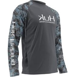 Save 35% HUK DOUBLE HEADER Youth LS Performance Fishing Shir