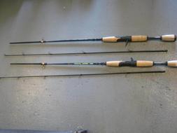 set of 2 zebco avs casting rods 5.4ft 2 piece rods