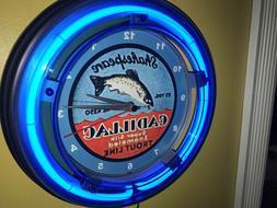 Shakespeare Cadillac Fishing Line Rod Reel Bait Shop Blue Ne