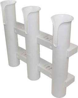 SeaSense Single Piece 3 Rack Rod Holder, White