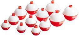 Eagle Claw 07030-001 Snap-On Round Floats, Red/White, Assort