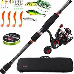 Sougayilang Telescopic Fishing Rod and Reel Combos with Ligh