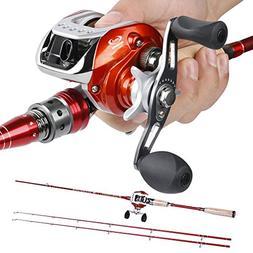 Sougayilang Spinning Baitcasting Fishing Rod with Fishing Re