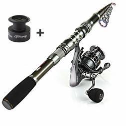 Sougayilang Spinning Fishing Rod and Reel Combos Portable Te