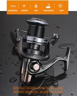 Spinning Reel Fishing Roller Rod Long Shot Salt Water Sea Bl
