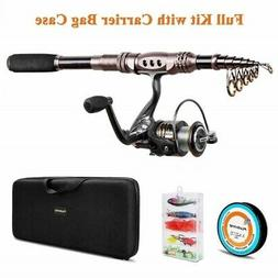 Spinning Rod & Reel Combos Carbon Telescopic Freshwater Fish