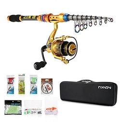 Lixada Spinning Rod and Fishing Reel Combos Kit Telescopic F