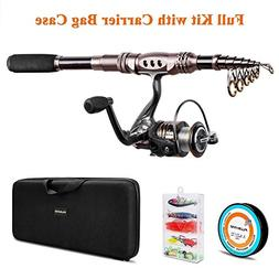 spinning rod reel combos telescopic
