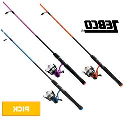 Zebco SPLASH Kids Youth Fishing Rod and Reel Spin Combo PICK