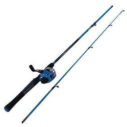 Zebco Splash 6' Spincast Rod & Reel-Blue, 2 Pc Fishing Pole,