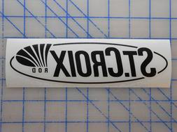 "St. Croix Decal Sticker 7.5"" 11"" Fishing Rod Elite Legend In"
