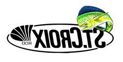 ST CROIX FISHING STICKER DECAL OCEAN 005 REEL ROD LABEL TACK