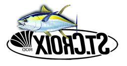 ST CROIX FISHING STICKER DECAL OCEAN 010 REEL ROD LABEL TACK