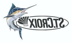 ST CROIX FISHING STICKER DECAL OCEAN 015 REEL ROD LABEL TACK