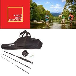 Amateurs Fly Fishing Kit Starter Package Rod Reel Combo Begi