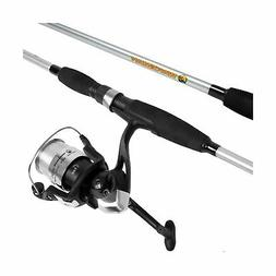 Strike Serie Spinning Rod and Reel Combo Silver Metallic Hea
