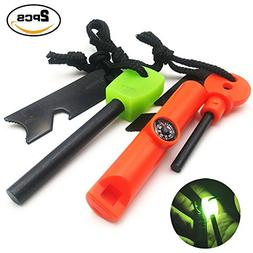 AnimaMiracle Survival Lumious handle Fire Starter Compass |