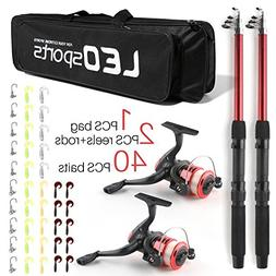SupsShop Telescopic Fishing Pole Combo Set, All-in-one 1.8m/