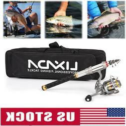 Lixada Telescopic Fishing Rod and Reel Combo Full Kit Organi