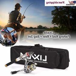 Lixada Telescopic Fishing Rod and Reel Combo Full Kit Spinni