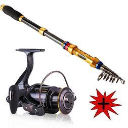 Sougayilang Telescopic Fishing Rod and Reel Combo Kit Pole S