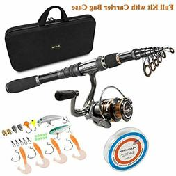 PLUSINNO Telescopic Fishing Rod and Reel Combos Full Kit Car
