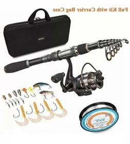 PLUSINNO Telescopic Fishing Rod and Reel Combos FULL Kit, Sp