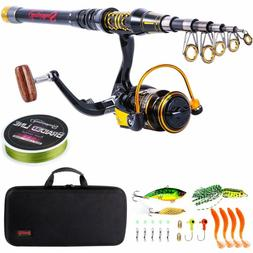 Sougayilang Telescopic Fishing Rod And Reel Combos Spinning